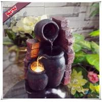 China LED Polyresin Indoor Mini Wall Pot Electric Tiered Tabletop Fountain on sale