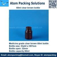60ml Clear Brown Medicine bottle for tablet