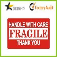 China Fragile adhesive sticker label /Carton label wholesale