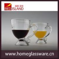 8 OZ glass cup for juice and wine with handle,transparent Creative Cup