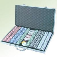 China Poker Chip set MODEL: HN-S1001,1000 poker chip set with Alu case wholesale