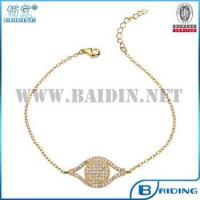China 925 silver micro zircon cube chain evil eye turkish bracelet jewelry on sale
