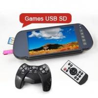 China Erisin ES332 LCD Car Rearview Mirror USB SD 32 Bit Games Player wholesale