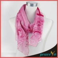 China Printing Pink Loveliness Cartoon Scarf wholesale