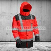 China ANSI/ISEA 107 / EN20471 Northcape 300D oxford high vis two tone traffic workwear jacket on sale