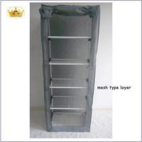 Fashion 5 layers with rolled door folding portable wardrobe