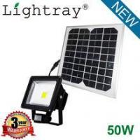 China outdoor solar motion-sensing 50w led cob flood light with approved wholesale