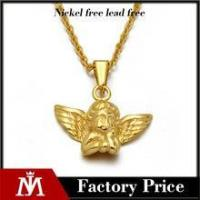 China Fashionale PVD 18k gold pendant jewelry cute stainless steel angel necklace for women wholesale