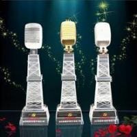 China Wholesale Microphone crystal trophy parts wholesale