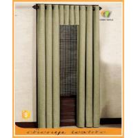 China New high quality sun-stop linen blackout office curtain with eyelets valance wholesale