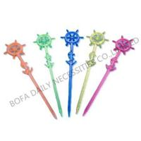 Buy cheap Cocktail stick & toothpick Rudder plastic wine pick from wholesalers