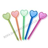Buy cheap Cocktail stick & toothpick Big heart plastic cocktail pick from wholesalers