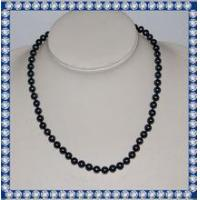 7mm round AA 18inch fashion chunky pearl necklace