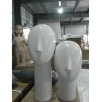 China new style fashion female head fiberglass mannequin for hat ,wigs wholesale