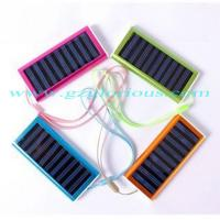 China 500mAh solar portable mobile charger/power bank for ipad, MP3/MP4, Mobile phone, PSP, etc. wholesale