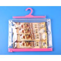 China Optional color hook clear bag with matched zip wholesale