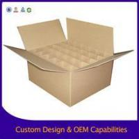 Corrugated cardboard box RSC Brown Packing Carton Box with dividers for Sale
