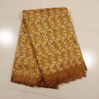 China Sign Organza Lace Fabric , Coffee 4 - 5kgs Weight wholesale