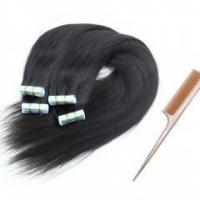 China Grade 6A double drawn true to length PU skin weft hair extension 20 pieces/bundle wholesale