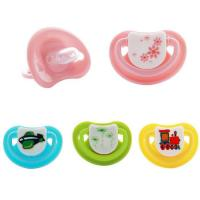 China Colorful Cartoon Teat Dentures Silicone Baby Funny Pacifier Teether Nipple on sale