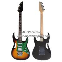 "China AG39-IB7 39"" Electric Guitar - Ibanez style with handle and pearl loid pickguard wholesale"