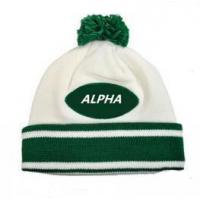 China Smart casual pattern winter sport warm knitted beanie hat wholesale