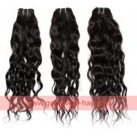 Buy cheap Product: virgin brazilian hair weft natural wave natural black tangle free 16