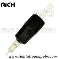 China Transparent Disposable Tattoo tube Black Tattoo Grips Super high quality grips on sale