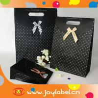 China Factory made black decorate brown paper bag wholesale