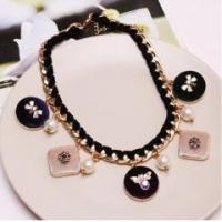 China Jewelry fashion vintage shining diamond black chains necklace, choker necklace for women wholesale