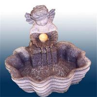 China Angel carved stone water fountain for landscaping garden wholesale