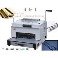 Buy cheap multifunction binding machine with comb wire spiral coil and punching (SUPER4&1) from wholesalers