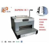 Buy cheap New Design Multifunction Punching and Comb Wire Spiral Coil Binding Machine(SUPER4&1) from wholesalers