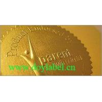 AS88-- embossed gold sticker
