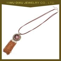 China New Luxury Fashion Vintage Necklace Popular Gold Plated Tassel Necklace wholesale