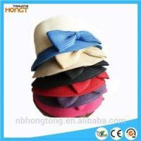 China FAMILY bowknot girl sun hat basin straw hat wholesale
