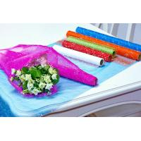 China Flower Wrapping Materials organza by the roll Dot Foamed Organza Rolls wholesale