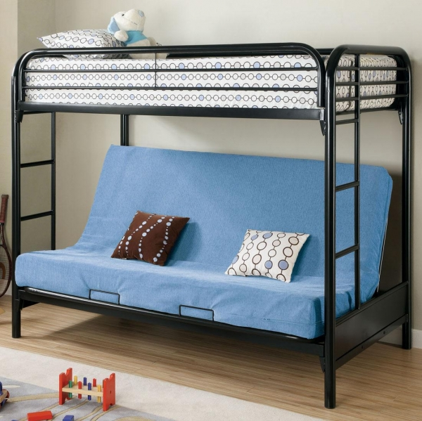 quality 2250k twin futon bunk bed black for sale