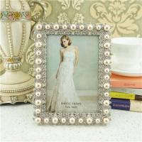 Buy cheap Metal photo frame/elegant pearl photo frame from wholesalers