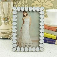 Buy cheap Metal photo frame/teardrop crystals photo frame from wholesalers