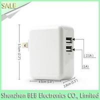 China 5V 2.1A dual USB wall charger on sale
