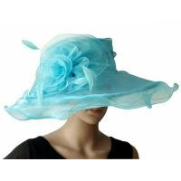 China Organza Hats For Women in Baby Blue H041 wholesale