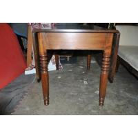China Antique Solid Mahogany Drop Leaf Dining Table Circa 1870 on sale