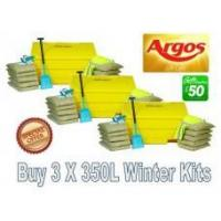 China Offers with Free Gifts 3x 350 Litre Grit Bin Winter Pack with Free Gift wholesale