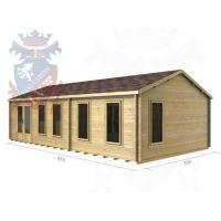 China Log Cabins Over 6 meters on sale
