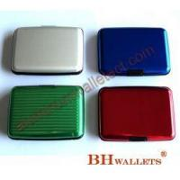 China Hard Shell Card Case Aluminum Wallet on sale
