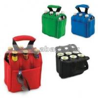 Buy cheap Wholesale New Style Cooler Bag Six Pack Beverage Carrier Color: Red.Black.Green.Blue#A05-0022 from wholesalers