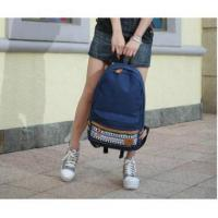China Wholesale Canvas Korean Style Japan Snowflake Design Backpack School Bag#A02-0065 wholesale