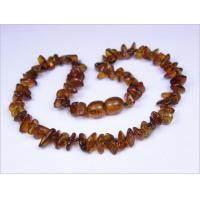 China Amber for Teething Cognac Amber Baby Necklace - Small Chips on sale