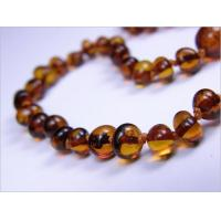 China Amber for Teething Cognac and Honey Amber Baby Necklace - Rounded on sale